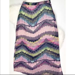 Olive & Oak Anthro Boho Multi Color Maxi Dress